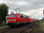 DB Regio 111 217-6 mit RE in Maintal Ost am 22.08.16