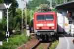 BERNAU bei Berlin (Landkreis Barnim), 12.05.2009, 114 021-9 fährt als RE3 nach Elsterwerda ein