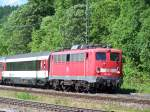 Die 115 166 in Hattingen am 05/06/10.
