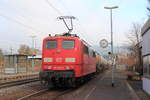 151 086-6 DB Cargo in Pressig/ Rothenkirchen am 24.11.2016.