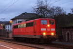 151 126-0 DB Cargo in Pressig/ Rothenkirchen am 27.12.2016.
