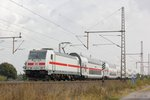 146 556-6 mit IC2 Dostos in Dedensen Gümmer, am 30.09.2016.