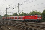 143 247-5 mit S6 in Köln Messe/Deutz, am 30.05.2016.
