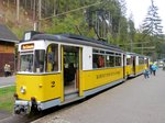 Kirnitzschtalbahn Wagen 2 am 23.06.16 in Bad Schandau.