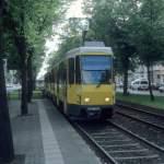 Berlin BVG SL 2 (KT4Dt 7065) Greifswalder Strasse / Thomas-Mann-Strasse im Juli 2004.