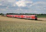 RE 3511 (Stralsund Hbf–Elsterwerda) am 27.06.2016 zwischen Drahnsdorf und Luckau-Uckro