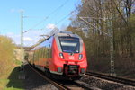 442 604 DB Regio in Michelau/ Oberfranken am 15.04.2016.