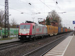 CROSSRAIL 185 599-8 mit Containerzug am 30.01.15 in Ladenburg