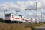 146 556-6 mit IC2 Dostos in Dedensen Gümmer, am 05.10.2016.