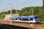 VT 013 und weiterer RegioShuttle der Niederbarnimer Eisenbahn, aufgenommen von der S-Bahn Station Blankenburg in Berlin.