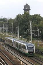 Der Vogtlandexpress rollt Richtung Osten in Kürze am S-Bahnhof Ostkreuz vorbei.