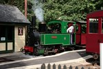 The Bredgar & Wormshill Light Railway  Nr.7 VICTORY (Bj. 1897, Petit Bourg, Decauville, Fabr.-Nr. 246) im Bf Warren Wood am 02.09.2015