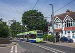 London - Croydon Tramlink, Bombardier CR4000 2536 als Linie 2, Addiscombe Road, 05.08.2016.