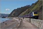 Der Great Western Railway HST 125 Class 43 Service 957 von London Paddington nach Plymouth  zwischen Dawlish und Teignmounth auf dem Weg Richutng Westen.