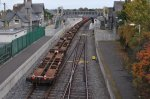 IERLAND sep 2011 PORTARLINGTON container wagons achter loc 073
