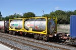 IERLAND sep 2012 KILDARE container wagon 31262 met tank container