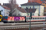 IC 119 mit 1144 017-1 in Lindau Hbf.