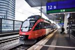 4124 006-0 wartet in Wien Hbf, als S60 26047 nach Bruck a.