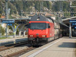 Re 460 mit IC 61 nach Basel SBB in Interlaken West, 13.09.2020.