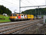 SBB - Lok 420 276-8 + Sperry Messwagen (Sggrss) 99 85 936 2 003-7 + Steuerwagen BDt  50 85 82-33 925-7 in Riedtwil am 24.09.2020