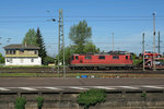 SBB/DB: Re 4/4 II 11319 in Weil am Rhein am 6. Mai 2016.