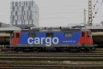 Re 4/4 421.386 der Sbb Cargo in Wels Hbf am 12.2.15