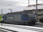 BLS Re 465 012 Euro Tunnel am 22.12.2009 in Kerzers