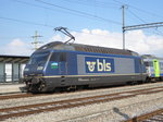 BLS - Lok 465 009-9 in Kerzers am 25.07.2016