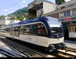 MOB / Goldenpass - Triebwagen Be 4/4 9204 abgestellt in Montreux am 14.07.2018