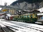 WAG - Triebwagen BDeh 4/4  104 in Lauterbrunnen am 25.02.2011