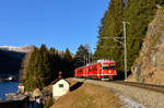 Be 4/4 513 am 28.12.2016 bei Davos Dorf.